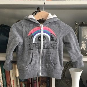 Roxy Baby Zip Up Hoodie Jacket Grey